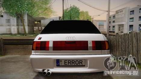 Audi RS2 Avant для GTA San Andreas вид изнутри