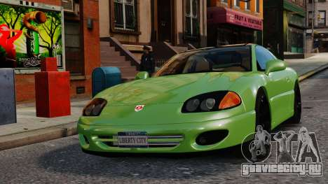 Dodge Stealth Turbo RT 1996 для GTA 4 вид изнутри