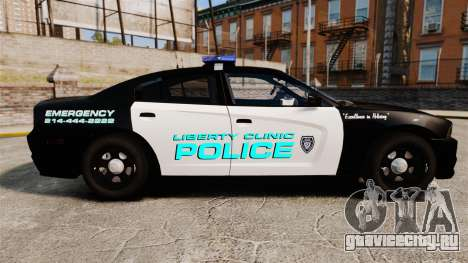Dodge Charger 2011 Liberty Clinic Police [ELS] для GTA 4 вид слева