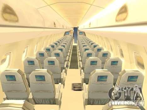 Embraer 175 HOUSE для GTA San Andreas вид снизу