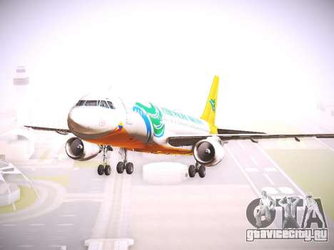 Airbus A320 Cebu Pacific Air для GTA San Andreas вид сзади слева