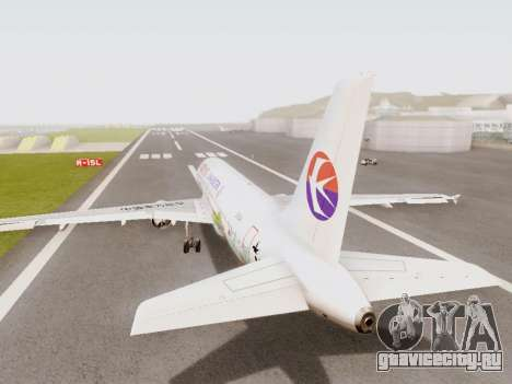 Airbus A320-211 China Eastern для GTA San Andreas вид справа