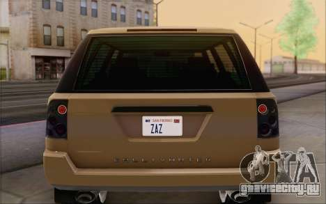 Gallivanter Baller из GTA V для GTA San Andreas вид снизу