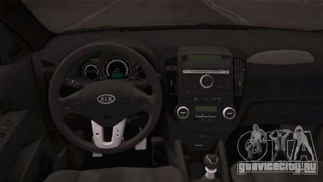 Kia Ceed 2011 SA Plates для GTA San Andreas вид сзади