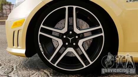 Mercedes-Benz E63 AMG для GTA 4 вид сзади