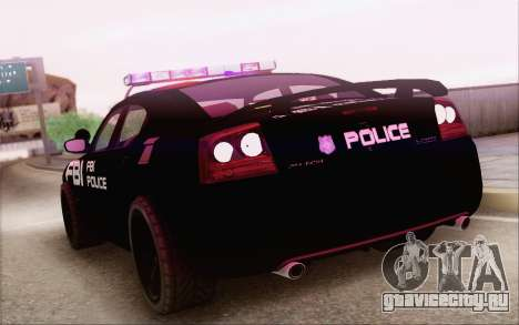 Dodge Charger SRT8 FBI Police для GTA San Andreas вид слева