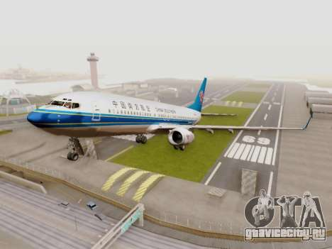 China Southern Airlines Boeing 737-800 для GTA San Andreas вид слева