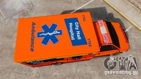 Brute CHH Ambulance для GTA 4 вид справа