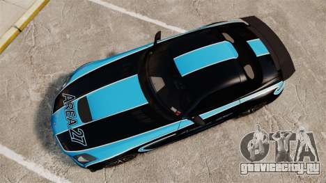 Mercedes-Benz SLS 2014 AMG Black Series Area 27 для GTA 4 вид справа