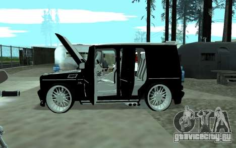 Mercedes G65 new tuninG для GTA San Andreas вид сзади слева