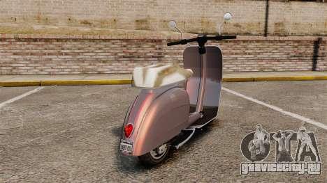 GTA V Pegassi Faggio для GTA 4 вид сзади слева