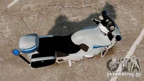 BMW R1150RT Police municipale [ELS] для GTA 4 вид справа