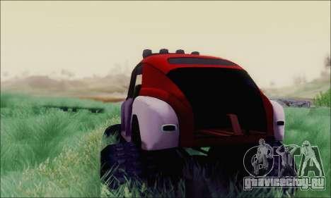 ГАЗ М20 Монстр для GTA San Andreas вид сзади слева