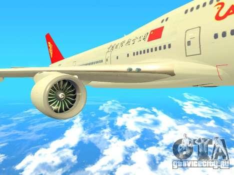 Boeing 747 Air China для GTA San Andreas вид справа