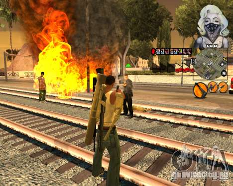 C-HUD Marilyn Monroe для GTA San Andreas второй скриншот