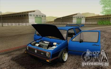 Volkswagen Golf MK2 LowStance для GTA San Andreas вид сверху