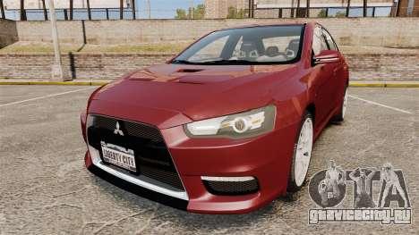 Mitsubishi Lancer Evolution X для GTA 4