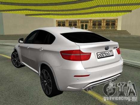 BMW X6M 2010 для GTA San Andreas вид сзади