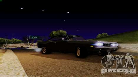 Dodge Coronet RT 1969 440 Six-pack для GTA San Andreas вид сзади слева