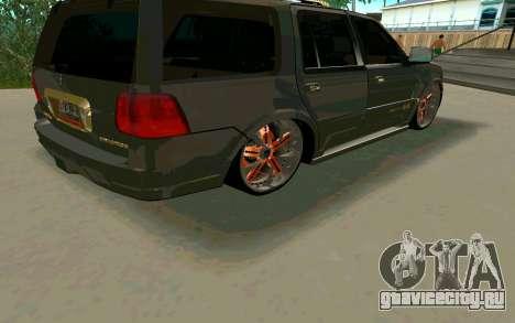 Lincoln Navigator DUB Edition для GTA San Andreas вид сзади