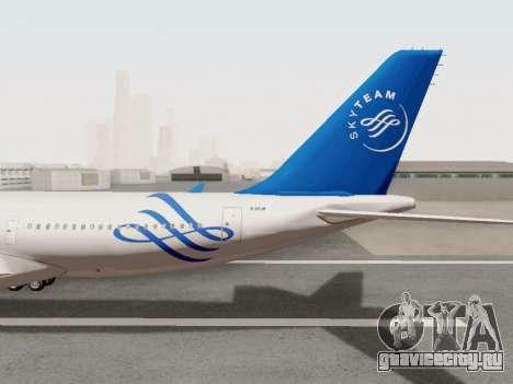 A330-202 China Eastern для GTA San Andreas вид изнутри