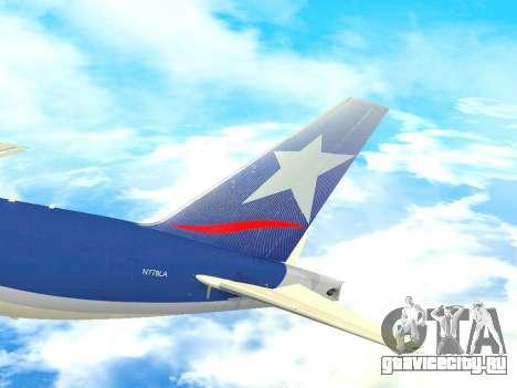 Boeing 777 LAN Cargo для GTA San Andreas вид сбоку