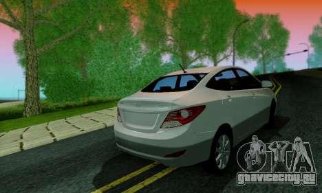 Hyndai Solaris для GTA San Andreas салон