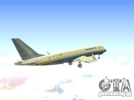 Embraer 175 HOUSE для GTA San Andreas вид сбоку