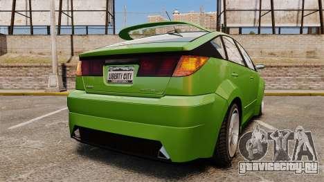 Karin Dilettante new wheels для GTA 4 вид сзади слева