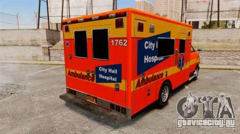 Brute CHH Ambulance для GTA 4 вид сзади слева