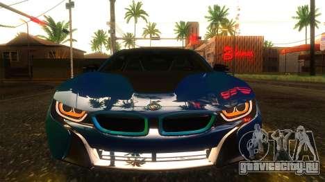 BMW I8 2013 для GTA San Andreas вид сзади