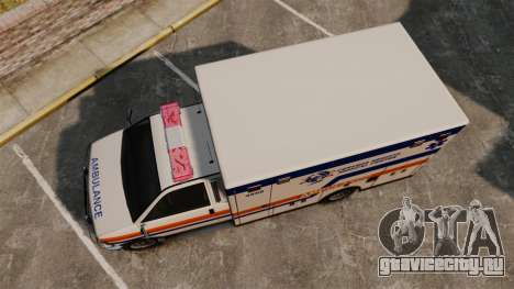 Brute CHMC Ambulance для GTA 4 вид справа