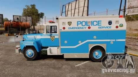 Mack R Bronx 1993 NYPD Emergency Service для GTA 4 вид слева