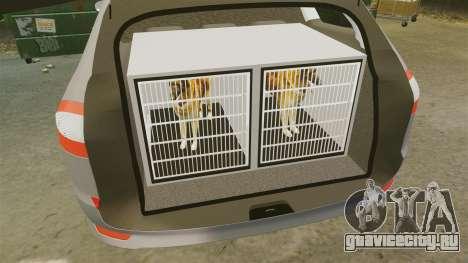 Ford Mondeo Hungarian Police [ELS] для GTA 4 вид сбоку