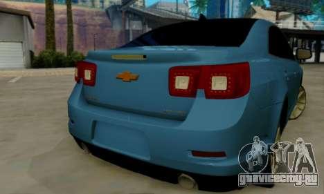 Chevrolet Malibu для GTA San Andreas вид сзади