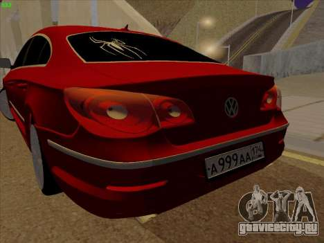 Volkswagen Passat CC для GTA San Andreas вид справа