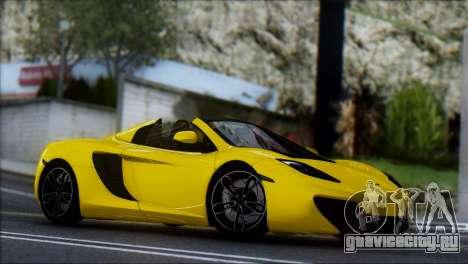 McLaren MP4-12C Spider для GTA San Andreas вид сзади