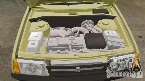 ВАЗ-21099 Лада Спутник для GTA 4 вид изнутри
