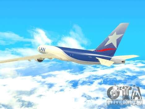 Boeing 777 LAN Cargo для GTA San Andreas вид изнутри