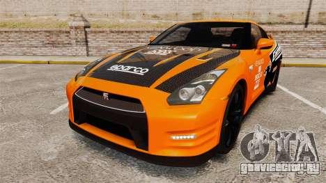 Nissan GT-R 2012 Black Edition NFS Underground для GTA 4