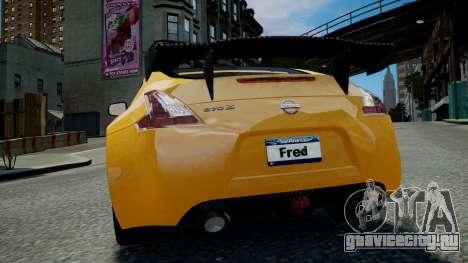 Nissan 370Z 2009 для GTA 4 вид изнутри