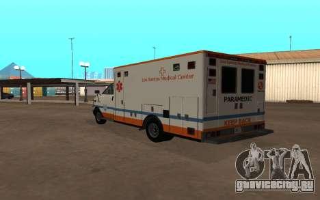 GTA 5 Ambulance для GTA San Andreas вид справа