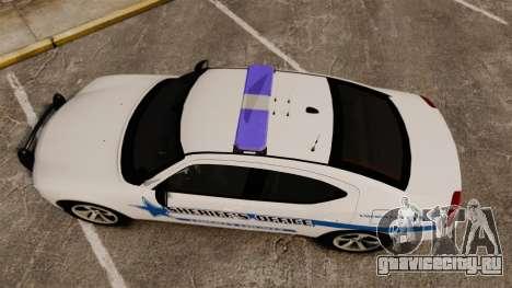 Dodge Charger 2010 Liberty County Sheriff [ELS] для GTA 4 вид справа