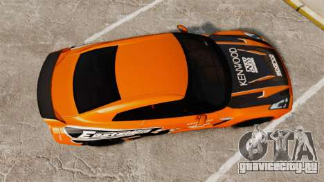 Nissan GT-R 2012 Black Edition NFS Underground для GTA 4 вид справа