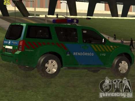 Nissan Pathfinder Police для GTA San Andreas вид сбоку