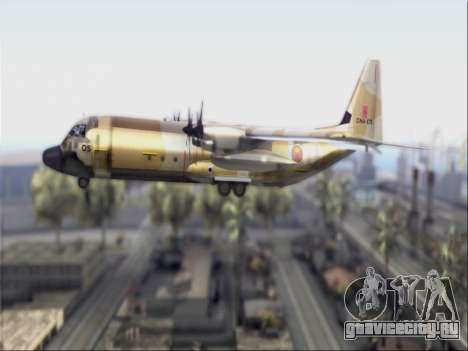 C-130 Hercules Royal Moroccan Air Force для GTA San Andreas вид сзади слева