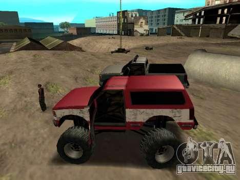 Street Monster для GTA San Andreas вид сзади слева