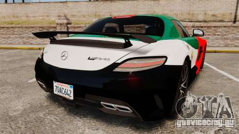 Mercedes-Benz SLS 2014 AMG UAE Theme для GTA 4 вид сзади слева