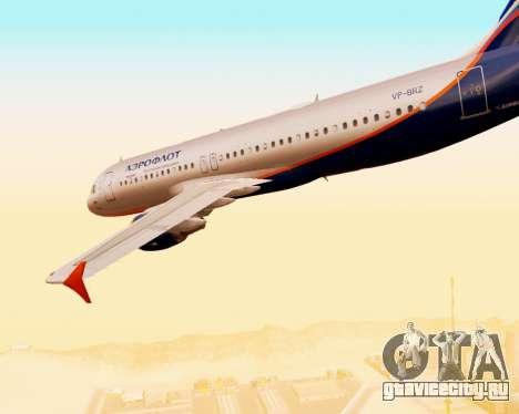 Airbus A320-200 Аэрофлот для GTA San Andreas вид снизу