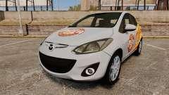 Mazda 2 Pizza Delivery 2011 для GTA 4